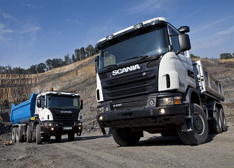 Scania P 420 8x4 Off-road tipper and G 440 6x6 Off-road tipper