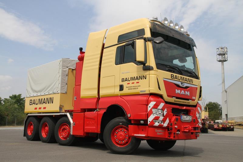 המשאית המשודרגת על בסיס מ.א.ן כפי שהוזמנה על ידי חברת ההובלות הגרמנייה