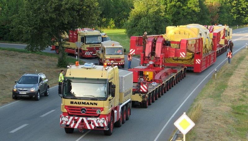 עד כה כלל צי המשאיות המיוחדוות של חברת Viktor Baumann משאיות מרצדס בלבד. בתמונה: דוגמא לפרוייקט אופייני של החברה